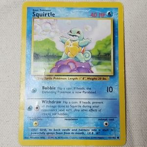 Vintage Squirtle Pokemon Card